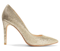 Goldstone Glittered Leather Pumps