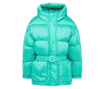 Michlin Quilted Polished Shell Hooded Down Jacket