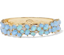 Gold-plated, Stone And Crystal Bracelet