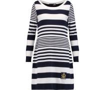 Striped Jersey Dress Navy