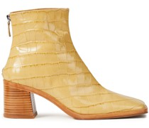 Ivy Ankle Boots aus Leder mit Krokodileffekt