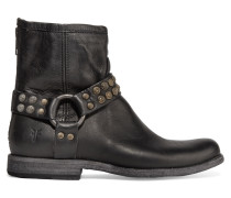 Phillip Studded Leather Ankle Boots Schwarz