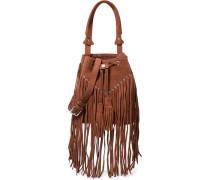 H15 Adula Fringed Suede Shoulder Bag Braun
