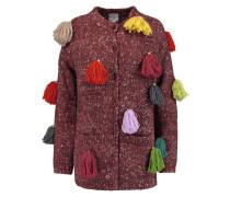 Tassel-embellished Wool, Alpaca And Silk-blend Cardigan Ziegelrot