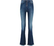 High-rise Flared Jeans Mittelblauer Denim