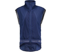 Mesh and shell-paneled vest