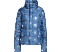 Printed quilted shell jacket