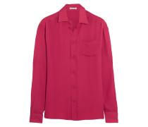 Silk-crepe Shirt Knallpink