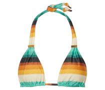 Delta Embellished Striped Triangle Bikini Top Mehrfarbig
