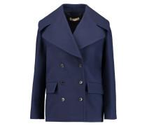 Cotton-crepe Coat Blau