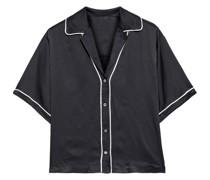 Hammered Silk-satin Shirt