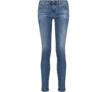 Stilt Low-rise Skinny Jeans Mittelblauer Denim