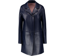 Faux Leather Coat Mitternachtsblau