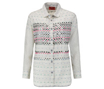 Embellished Cotton And Silk-blend Shirt Wollweiß