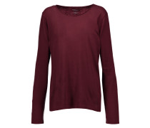 Cotton And Cashmere-blend Top Burgunder