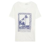 Bedrucktes T-shirt aus Leinen-jersey