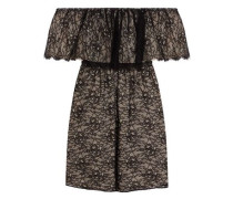 Suzy off-the-shoulder corded lace mini dress