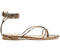 Sweden Sandalen aus Schlangenleder