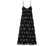Floral-print Cotton-voile Midi Dress