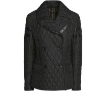 Owen leather-trimmed quilted shell jacket