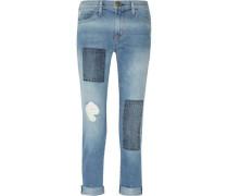 The Fling patchwork mid-rise boyfriend jeans