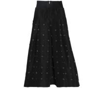 Embellished silk-faille maxi skirt