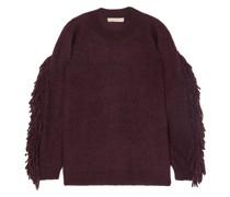 Mina Fringe-trimmed Mohair-blend Sweater