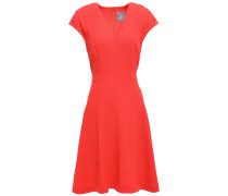Flared Wool-blend Crepe Dress