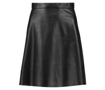 Pannala Leather Mini Skirt Schwarz