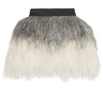 Ombré Feather Mini Skirt Creme