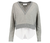 Cotton And Stretch-knit Tank And Sweater Set Grau