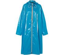 Oversized Coated Shell Raincoat
