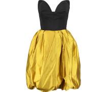 Poplin And Silk-satin Mini Dress Safrangelb