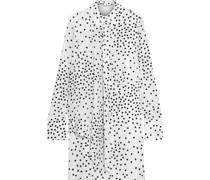 Lawson Layered Polka-dot Silk Crepe De Chine Mini Shirt Dress