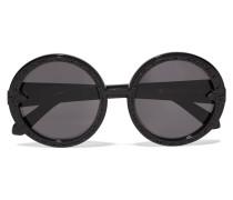 Orbit Filigree Round-frame Acetate Sunglasses Schwarz