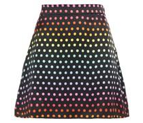 Libby Minirock aus Seidensatin mit Polka-dots