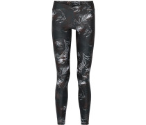 V Printed Stretch-supplex Leggings Petrol