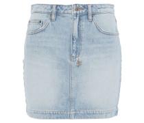 Faded Denim Mini Skirt