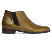 Textured-leather Ankle Boots Pistazie