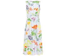 Printed Stretch-cotton Poplin Midi Dress