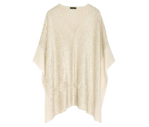 Silk And Cashmere-blend Chenille Poncho Creme