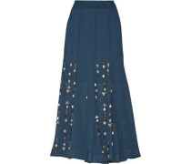 Aria embellished georgette maxi skirt