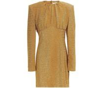Gathered Lurex Mini Dress