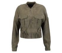 Santa Fe Washed-satin Jacket Armeegrün