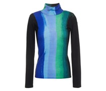 Brandy Printed Merino Wool Turtleneck Sweater
