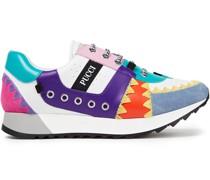 Sneakers aus Leder mit Velourslederbesatz und Details Im Überwendlichstich in Colour-block-optik