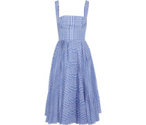 Pleated Gingham Shell Dress