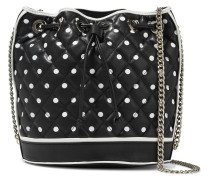 Polka-dot Quilted Leather Bucket Bag