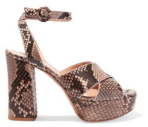 Python platform sandals