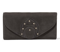Janis Studded Nubuck Wallet Schiefer